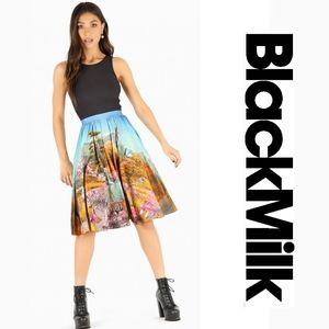 Blackmilk Hide And Seek Pocket Midi Skirt- Limited